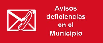 Avisos de deficiencias en el Municipio