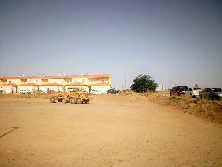 Obras aparcamientos en el Centro de Salud